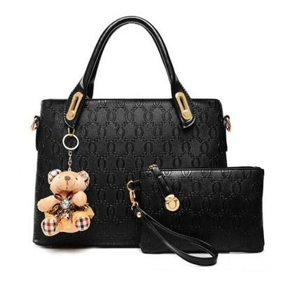 Set ženskih torbic (črn)