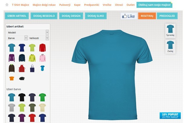 Izdelaj svojo majico