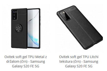 Soft gel ovitki za Samsung Galaxy S20 FE 5G